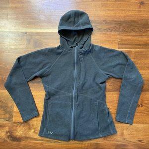Outdoor Research Grey Hooded Full Zip Fleece Small